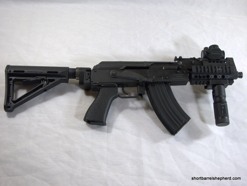 The idea of a vertical foregrip was much cooler in my mind.