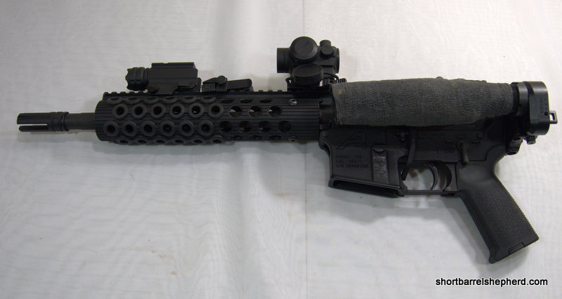You can fire the AR once Ar 15 Pistol Short Buffer Tube