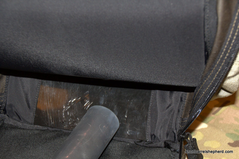 The bottom of the Marz M4 Go Pack has a reinforced plate and bottom to eliminate muzzle printing.