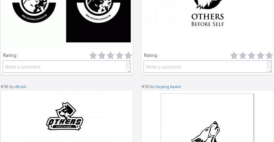 Some of the eight logos under consideration