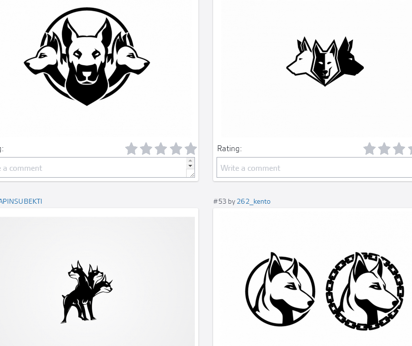 Some of the logos in the latest contest