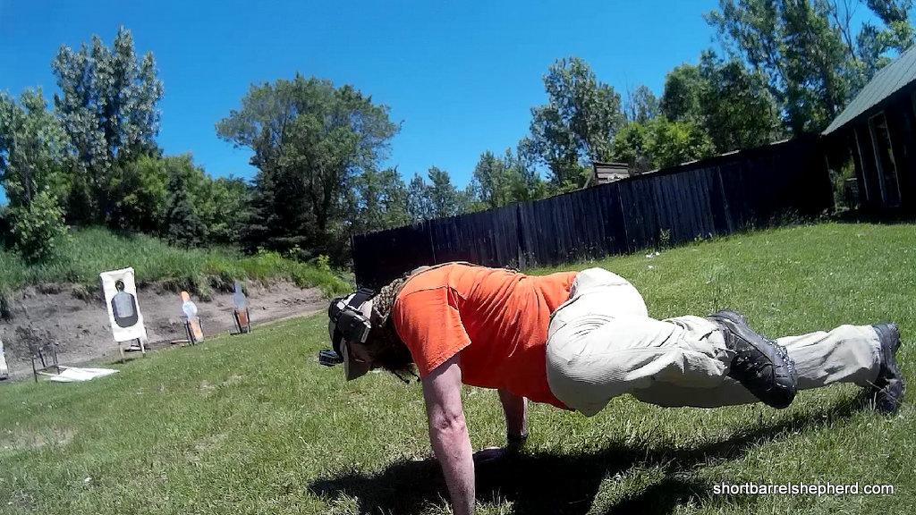 super burpee pistol exertion drill