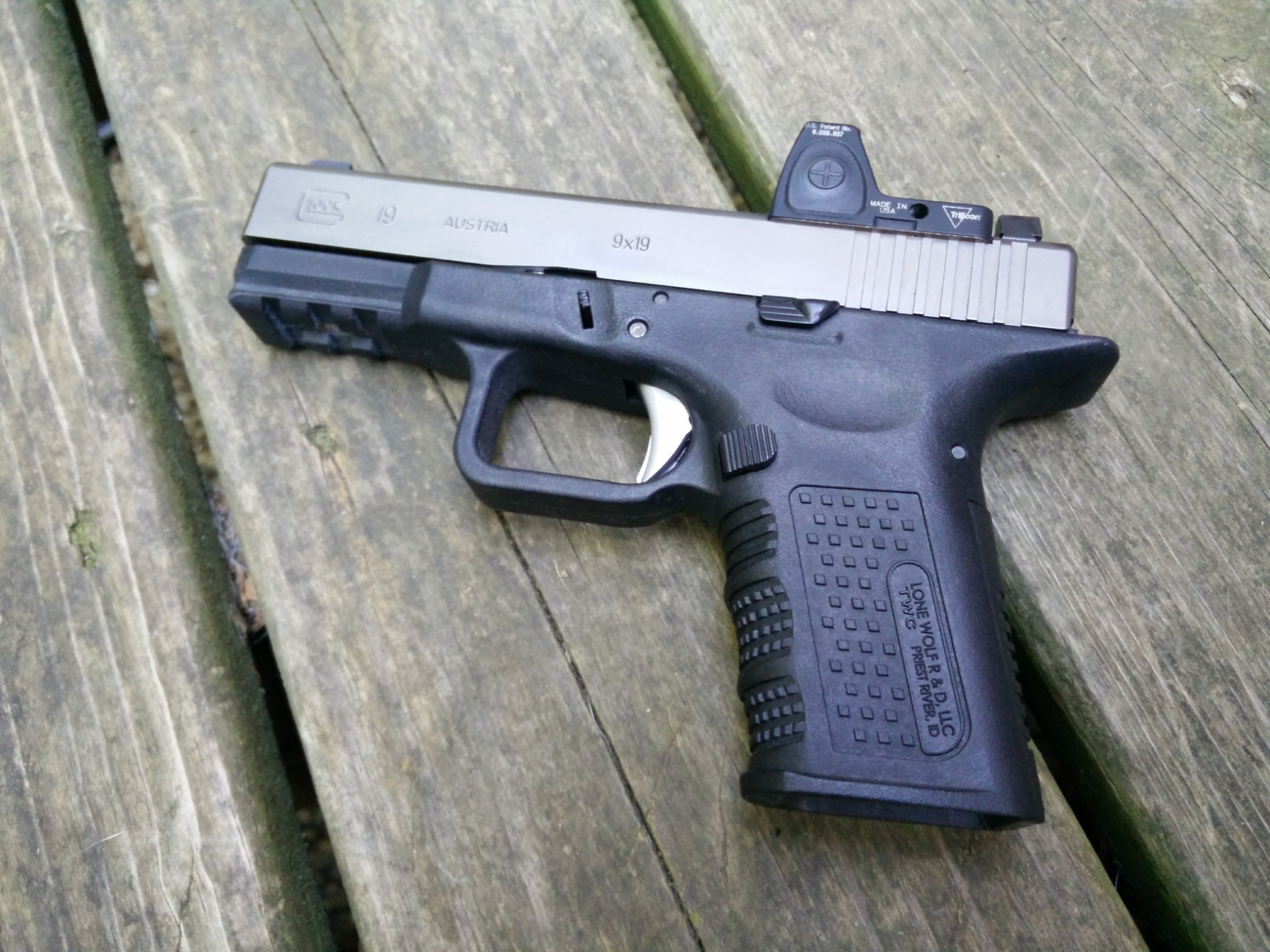 Timberwolf Aftermarket Glock 19 Frame After 2000 Rounds : Short ...